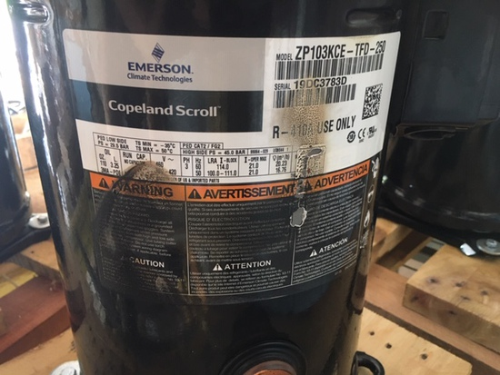 Copeland Scroll Compressor ZP103KCE-TFD-250