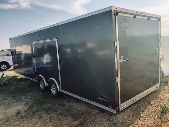 2017 Raven 28' Enclosed Trailer