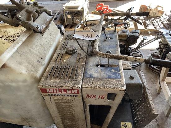 Miller Scout crete concrete buggy