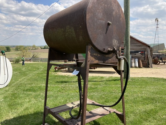 300 gallon gas barrel & stand