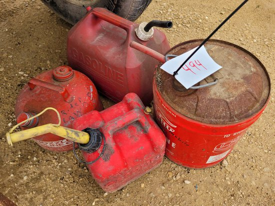 (4) Gas Cans