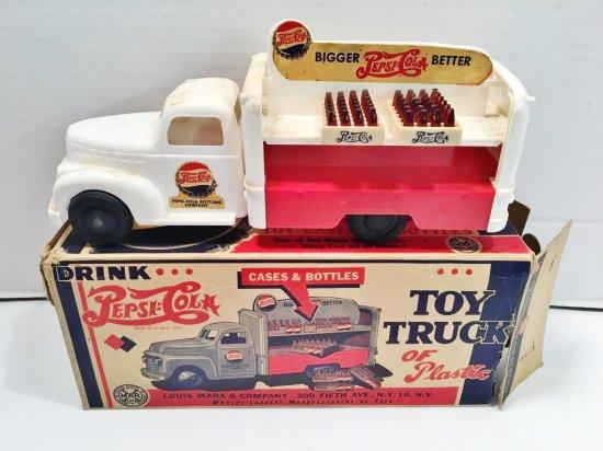 Vintage plastic LOUIS MARX PEPSI COLA toy truck/original box