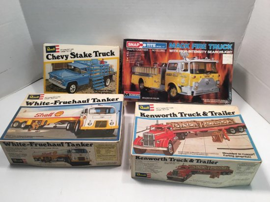 3-REVELL model kits,1- SNAP TITE model kit
