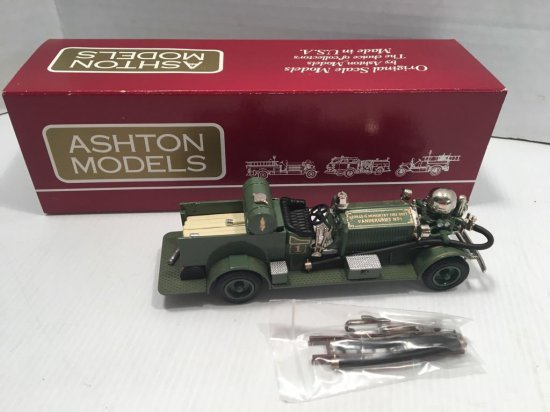 "ASHTON MODELS die cast fire truck (No AH 39;1925 Ahrens-Fox Pumper Model N-S-4""Vandergrift""Pa Serial"