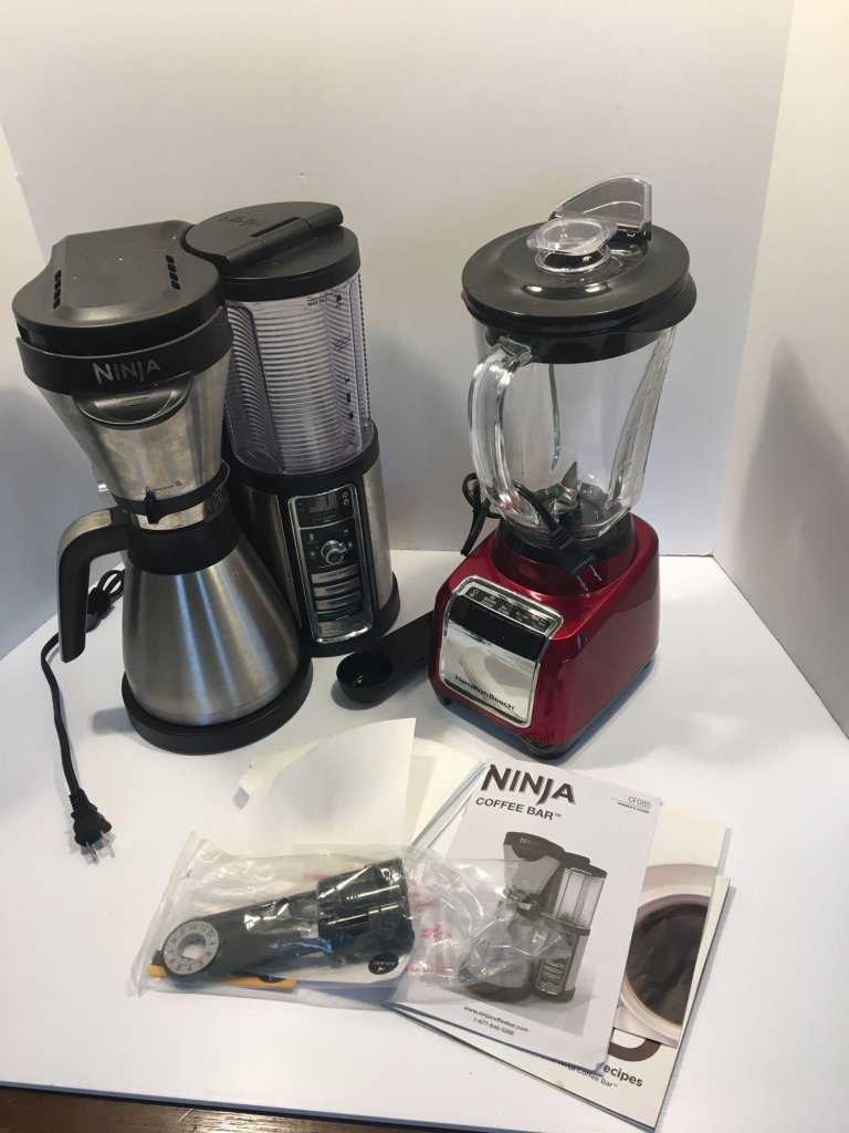 NINJA coffee bar, HAMILTON BEACH blender(glass jar)