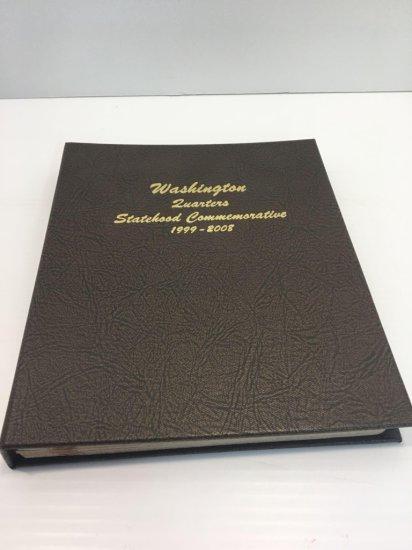 WASHINGTON QUARTERS (Statehood Commemorative 1999-2008) album (partially full)