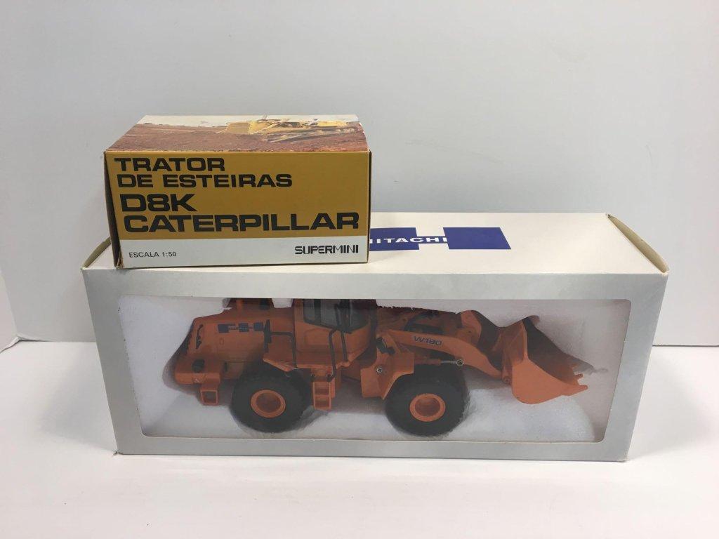 AGRITEC MODEL die cast FIAT-HITACHI front end loader,die cast D8K CATERPILLAR Supermini