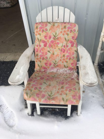Wooden porch chair