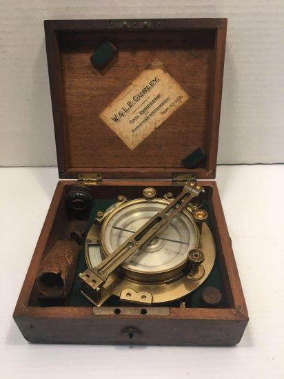 Antique W.& L.E GURLEY surveyors compass
