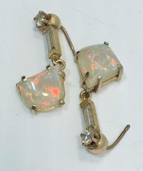 Opal/diamond earrings(matches 39,40)