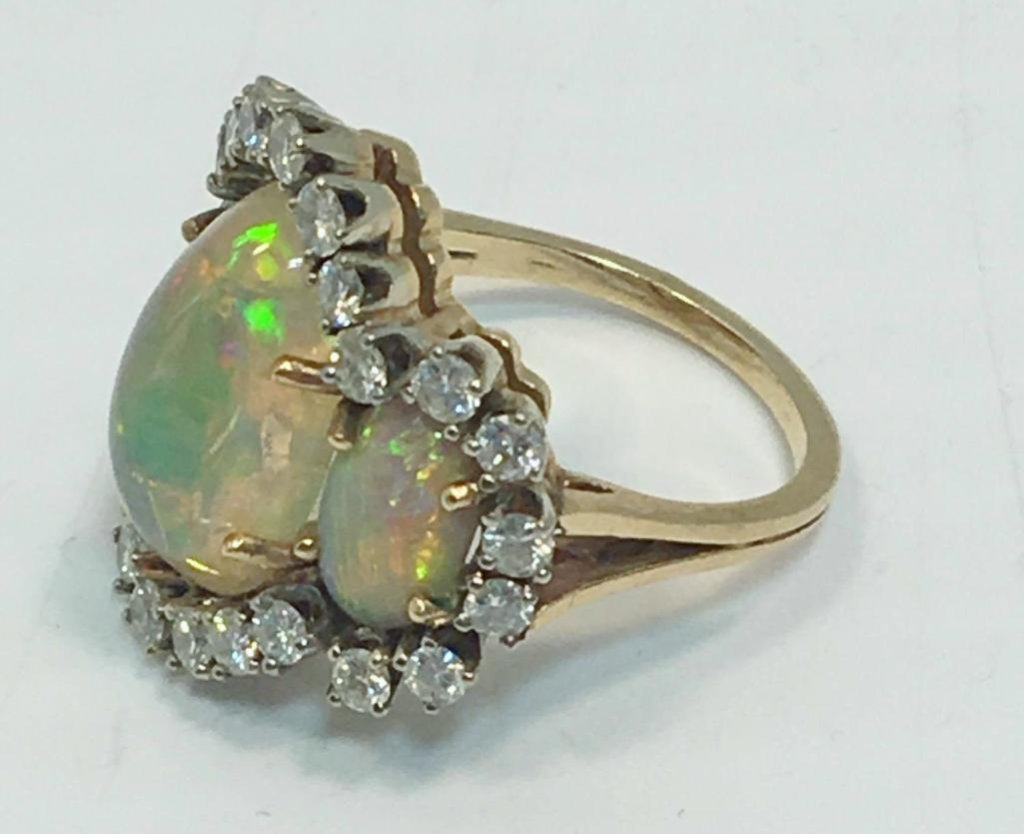 Opal/diamond ring(matches 39,41)