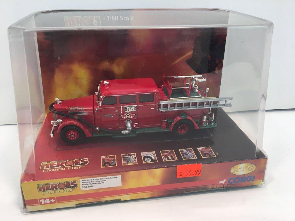 CORGI Heroes Under Fire die cast metal fire Engine 15(MEMPHIS TN)