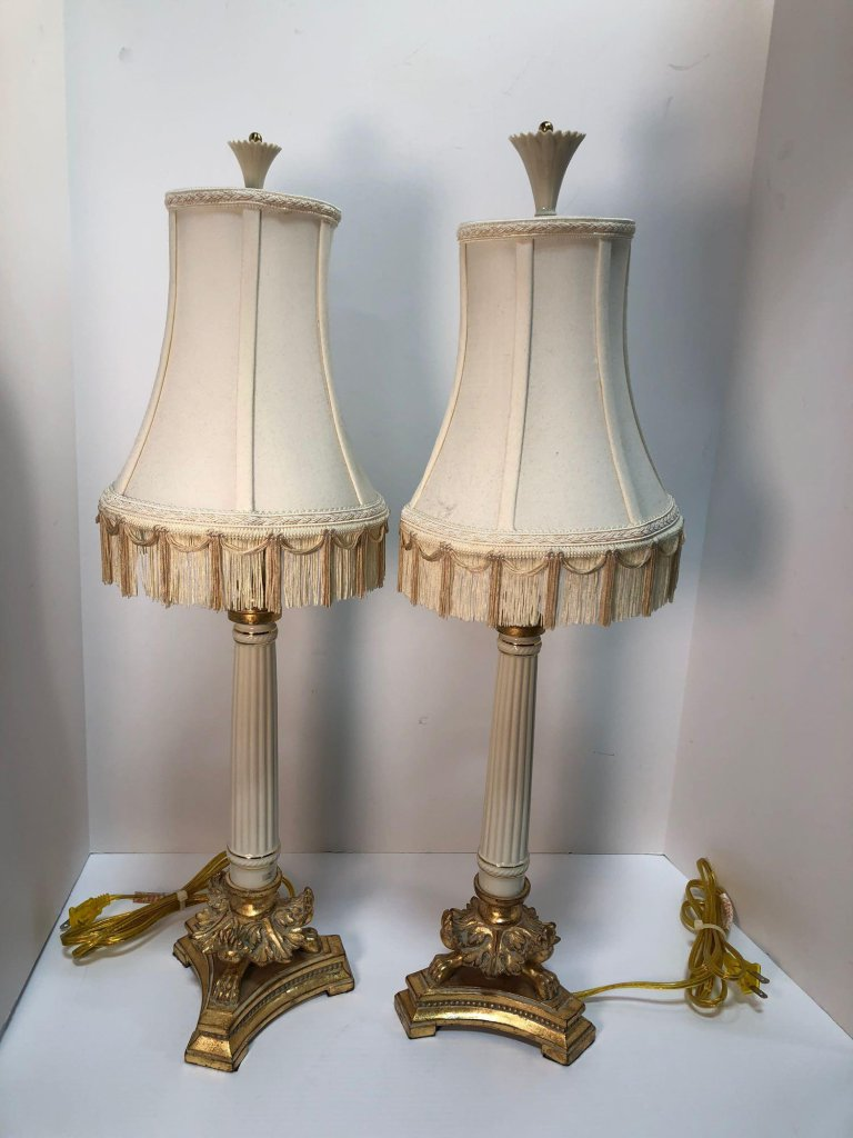 2 matching LENOX table lamps