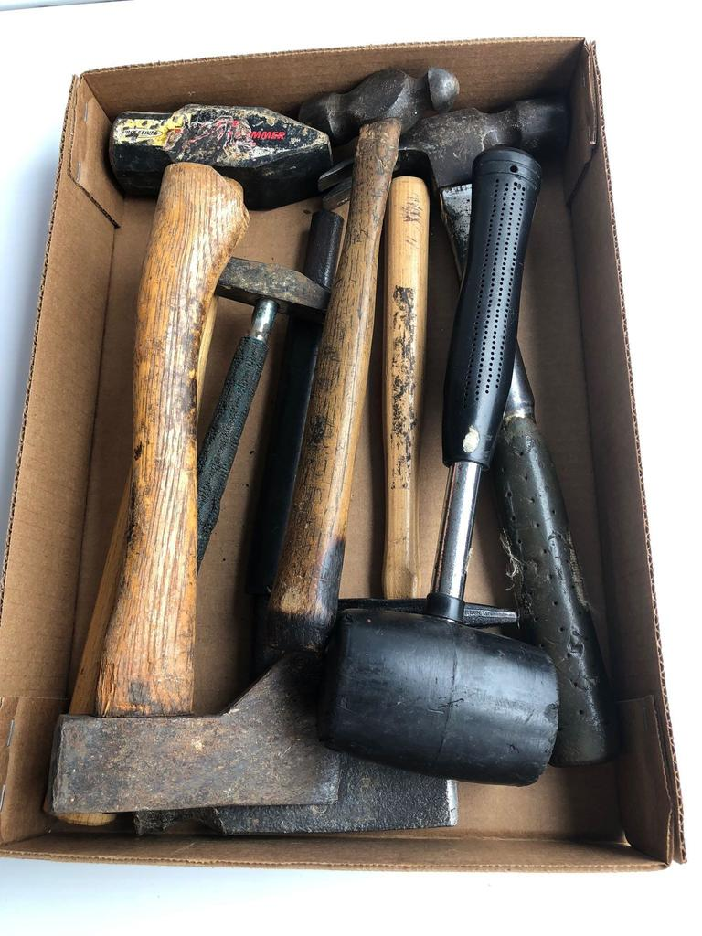 Hammers, ball peen hammer, mallet, hatchets, more