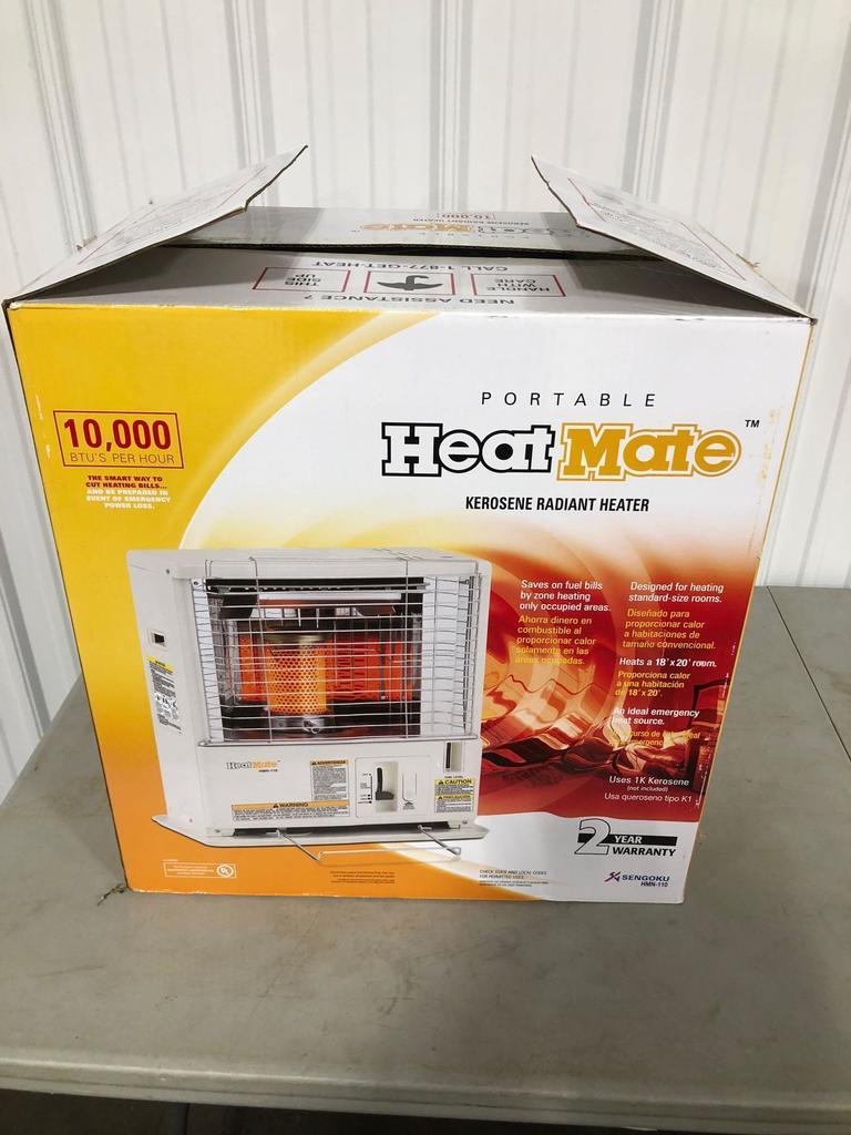 HEAT MATE(model Sengoku HMN-110)kerosene radiant heater (NIB)