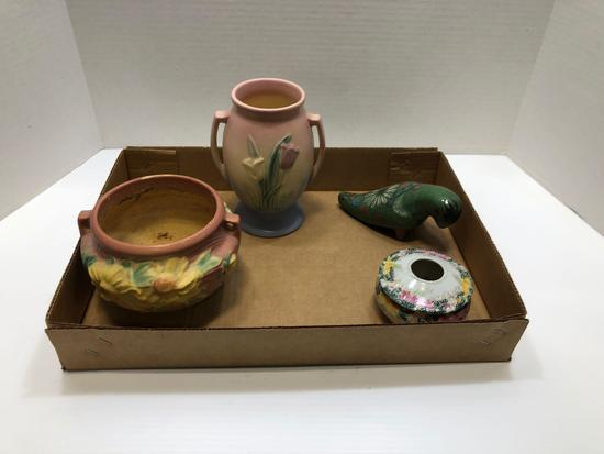 Hull vase, Poreville USA vase/pot, Decorative bird (Mexico), more