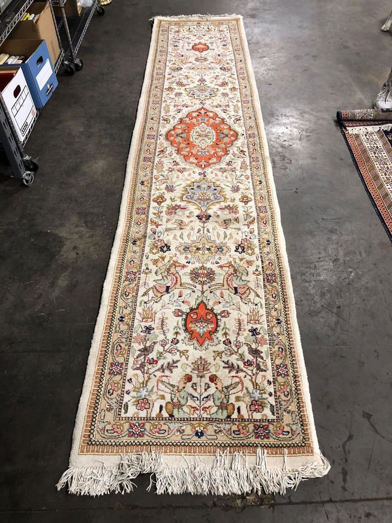 "A.A.A. 12'7"" x 2'8"" Handcrafted rug- Made in Iran No. 40923"