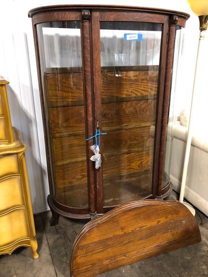 Antique Glass Front Curio Cabinet