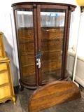 Antique Glass Front Curio Cabinet