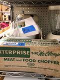 Sunbeam pedestal mixer, Oster blender enterprise, meat & food chopper, hand-held mixer