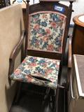 Vintage East Lake style folding chair and card table