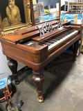 Antique pump organ manufactured by Phelps and Chase of Syracuse New York