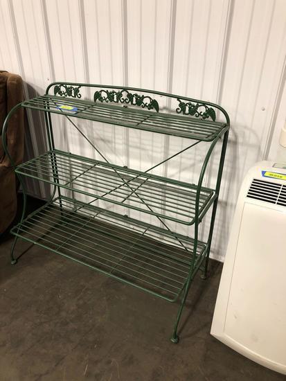 Three Shelf Wrought Iron Stand