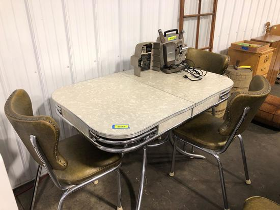 Vintage Chrome Dinette With 4 chairs