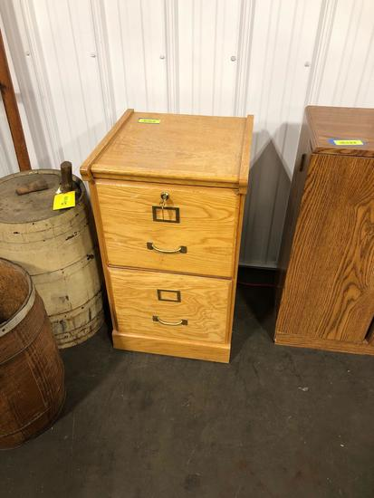Two Drawer locking file cabinet with keys