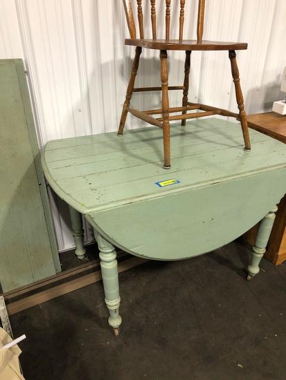 Antique table with two Inserts and Non Matching Chair