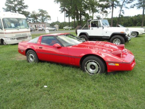 #7501 1984 CHEVY CORVETTE 31949 MILES ALL ORIGINAL EXCEPT PAINT AUTO TRANS