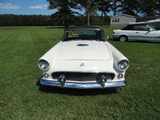 #4401 1955 FORD THUNDERBIRD CONVERTIBLE SHOWING 32004 MILES TITLE READS 130