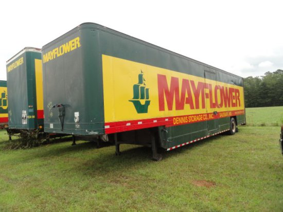 #4916 1974 FRUEHAUFF 40' MAYFLOWER MOVING TRAILER WITH 2 SIDE DOORS NO RESE