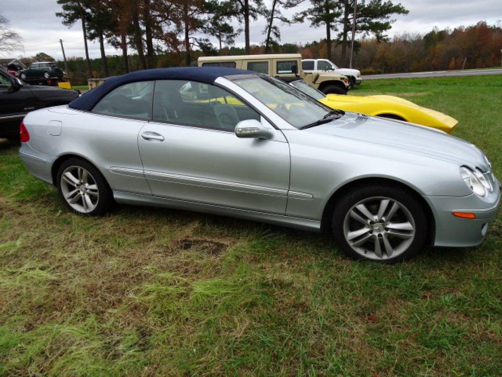 #3604 2007 MERCEDES CLK350 CONVERTIBLE 78290 MILES AUTO TRANS LEATHER HEATE