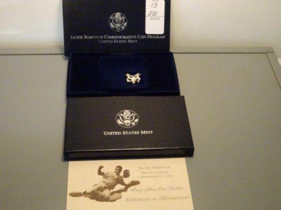 JACKIE ROBINSON 50TH ANNIV COMMEMORATIVE COIN PROGRAM UNITED STATES MINT PR