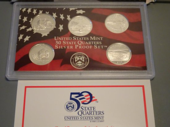 2005 UNITED STATES MINT 50 STATES QUARTERS SILVER PROOF SET CALIFORNIA MINN