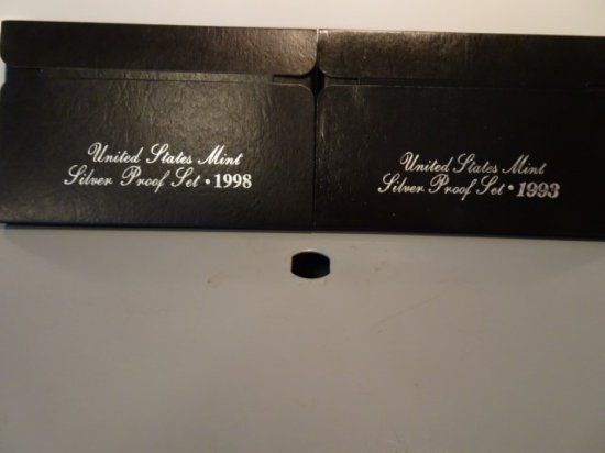 UNITED STATES MINT SILVER PROOF SETS 1993 1998