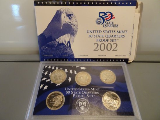 2002 UNITED STATES MINT 50 STATES MINT 50 STATE QUARTERS PROOF SET TENNESSE