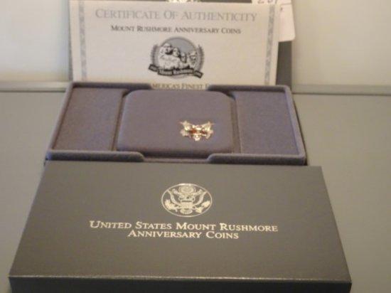 UNITED STATES MOUNT RUSHMORE ANNIV COINS