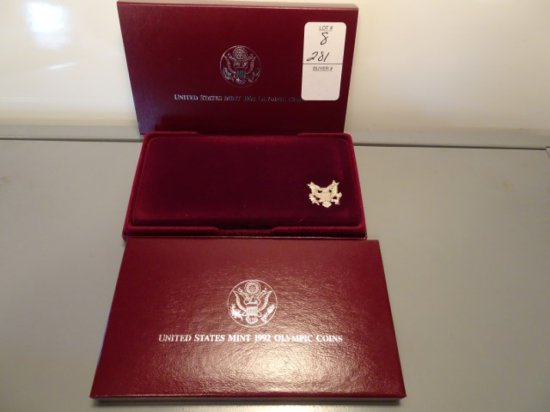 THE 1992 US OLYMPIC COINS TWO COIN PROOF SET