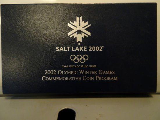 2002 OLYMPIC WINTER GAMES COMMEMORATIVE COIN PROOF SILVER DOLLAR