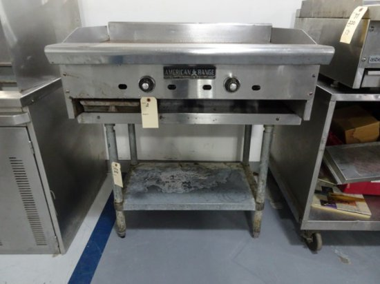 AMERICAN RANGE 36 INCH GAS GRIDDLE WITH WORK TABLE