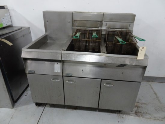 PITCO FRILATOR DOUBLE FRYER WITH DUMP STATION