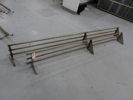 2 SS DRYING RACKS 116 INCH AND 100 INCH