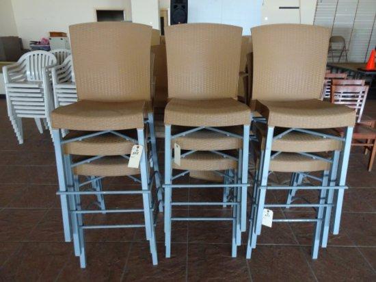 9 GROSSFLEX HIGH BACK BAR STOOLS 2194 INV2760