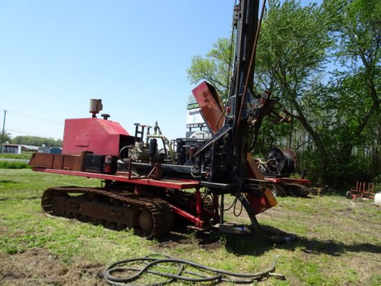 CUSTOM BUILT DRILL RIG ALL TERRAIN WITH 6 CYL JD DIESEL GEOTHERMAL UP TO 50