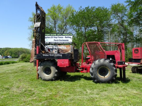 TRANSQUIP DRILL RIG FOR SIZEMEC DRILLING WITH 4 CYL DETROIT DIESEL ALL WHEE