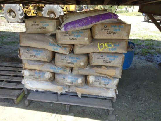 1 PALLET OF SODA ASH WITH SOME DAMAGE