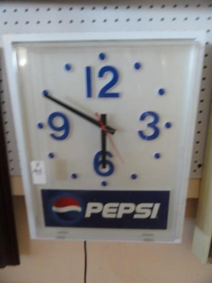 ELECTRIC PEPSI CLOCK