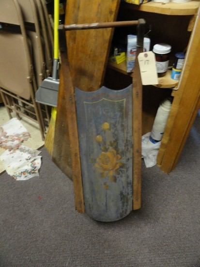 ANTIQUE CHILDRENS SLED APPROX 35 X 12